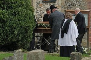 The funeral of Hull University student Libby Squire.