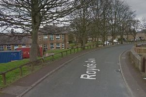 Royds Avenue in Huddersfield, where two police officers were attacked on Thursday evening