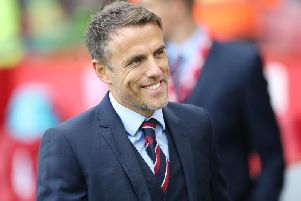Lionesses manager Phil Neville. PIC: Ian MacNicol/Getty Images.
