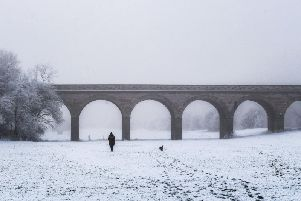 Tadcaster Viaduct in snow