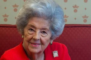 Baroness Betty Boothroyd. Photo: JPI Media
