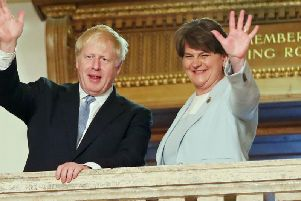 Will Boris Johnson have to upset Arlene Foster and the DUP to get a Brexit deal? Picture: PA