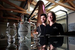 Chris Jaume and Abbie Neilson of Cooper King Distillery .Picture by Simon Hulme