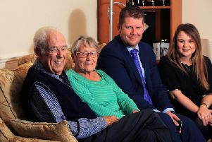 Pictured from left to right are John and Pat Thompson, Yorkshire Post Editor James Mitchinson and Yorkshire Post Crime Correspondent Lucy Leeson.