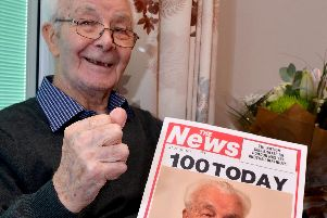 Gordon Sugg pictured at his 100th birthday party