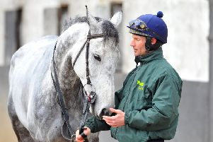 Jockey Danny Cook with Grand National contender Vintage Clouds.