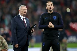 FA chairman Greg Clarke, pictured with Englandcaptain Harry Kane at Wembley in November last year. Picture: Nick Potts/PA
