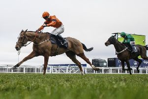 Sam Spinner and Joe Colliver, pictured winning the 2017 Long Walk Hurdle at Ascot, make their novice chase debut at Wetherby today.