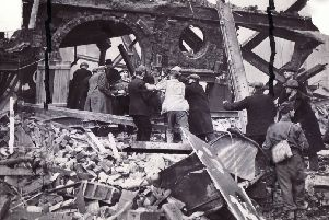 The bombing of Sheffield in 1940