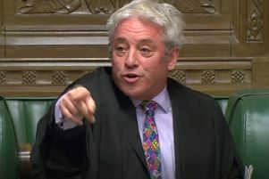 Speaker John Bercow delivering his latest Brexit ruling.