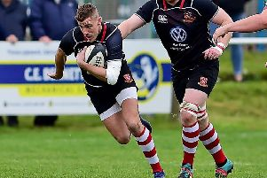 Mikey Haywood opened the scoring for Cleckheaton and went on to produce a man-of-the-match display in their 38-17 victory over Durham, which sees them climb to fifth place in North One East. Picture: Paul Butterfield