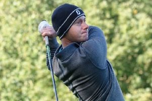 Dewsbury District Golf Club's Jonathan Binns helped secure the opening Pro-Am victory at the Halifax Huddersfield Golf Alliance competition. Picture: Trevor Williams
