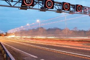 A stretch of the smart motorway through South Yorkshire.