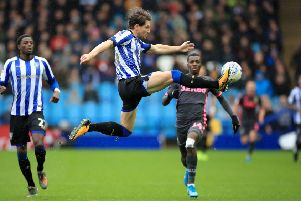 Sheffield Wednesday's Sam Hutchinson in action against Leeds United.