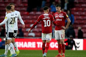 Middlesbrough's Marcus Browne and Middlesbrough's Paddy McNair after the match.