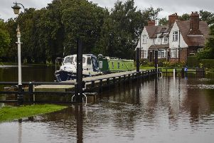 Naburn Lock at the River Ouse near York, which has been hit by a flood warning. Picture: Dan Rowlands/SWNS