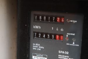 A domestic household electricity meter