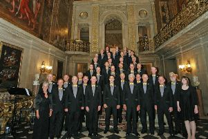 Eastwood Collieries Male Voice Choir's concert in the Painted Hall at Chatsworth.