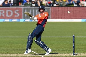England's James Vince pulls to the leg side during the T20 international against New Zealand at Hagley Oval. Picture: Martin Hunter/Photosport via AP