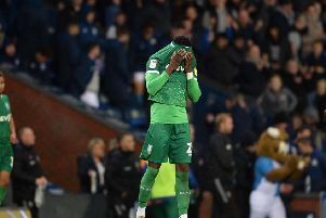 A dejected Dominic Iorfa after Rovers late two goals floor the Owls. PIC: Steve Ellis