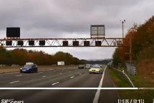 Video shows drivers speeding by police on M1