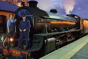 Beth Furness and Alexandra Jolly drove the last steam train of the season on the North Yorkshire Moors Railway