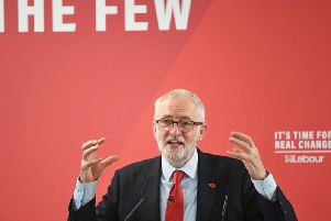 Labour Party leader Jeremy Corbyn speaking at the Park Inn By Radisson Harlow hotel. Photo: Stefan Rousseau/PA Wire
