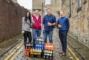 Becky Hilton, Paul White, Tom Shaw and Simon Mellin founder of The Modern Milkman .         Picture Karen Clark