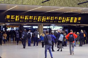 There is major disruption to services from Leeds to London after a person was hit by a train