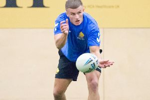 Ash Handley training with the Great Britain performance squad.