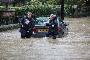 Flooding in Yorkshire.
