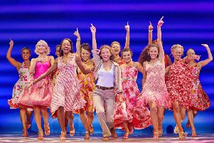 A scene from the musical Mamma Mia, currently at the Alhambra in Bradford.