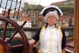 Colin as Captain Cook. Credit: BBC