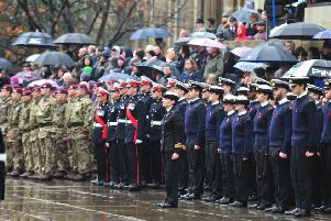 Civic Observance of Remembrance Sunday in Leeds' in 2018.'Picture by Gerard Binks Photography