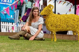 The Yorkshire Shepherdess, Amanda Owen, at the Great Yorkshire Show. Picture: James Hardisty.