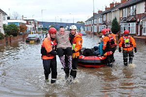 The flooding rescue effort in Doncaster.
