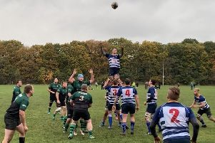 Action from Mansfield's 35-27 victory over Sileby Town on Saturday.