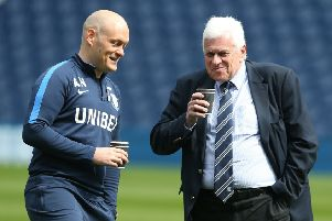 Alex Neil with Peter Ridsdale (right)