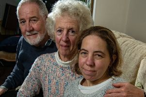 25 years ago Lynda Morrison had a heart transplant, to celebrate her mum Kerry is organising a Gift of Life celebration at the Mercer Gallery where she is inviting all people in the area who have had a organ transplants.'Pictured is Linda with parents Kerry and Brian.  Picture Bruce Rollinson