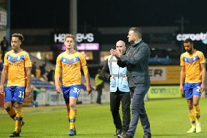 Stags leave the field to boos on Saturday.