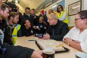 Flooding victims put a sheepish Boris Johnson on the spot.