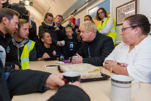 Flooding victims put Boris Johnson on the spot at Stainforth Community Resource Centre on Wednesday.