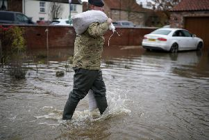 The village of Fishlake in Doncaster, which has been devastated by the floods.