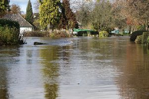 Parts of Matlock were completely submerged in flood water.