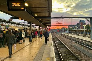 Leeds station at sunset. Pic: Bruce Rollinson