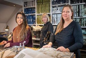 The Richard Grafton Interiors Wetherby team, Rebecca Thomas, Karen Draper'and Donna Schofield