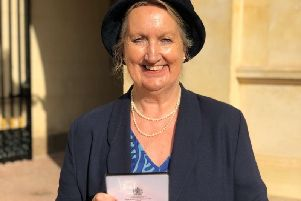 Janis Burdin with her MBE