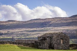 Stock Dales countryside near Hawes Wensleydale Yorkshire Dales. Photo: Marisa Cashill