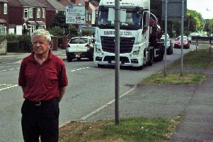 Campaigner John Nurse, of Derby Road, on the route near the welfare.