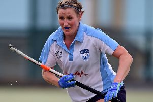 Vicky Almond scored with an unstoppable reverse shot as Batley Ladies secured a 2-0 win over Otliensians last Saturday, which helped them climb to third place in Yorkshire Hockey Association Division Four West. Picture: Paul Butterfield